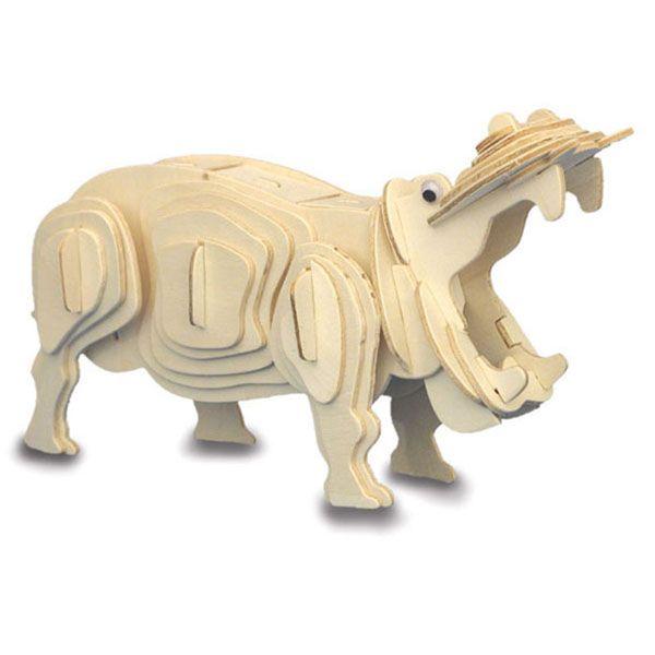 Dierendag knutselen: FSC houten bouwpakket nijlpaard