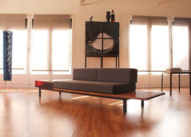 Galerie Clément Cividino Ent. / Banquette à caisson Charlotte Perriand - Cansado - mauritanie www.clementcividino.com  #clement #cividino #design #perpignan #furniture #mobilier #prouvé #candilis #culture #décoration