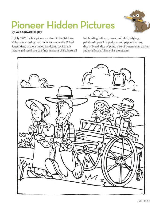 free coloring pages pioneers - photo#22