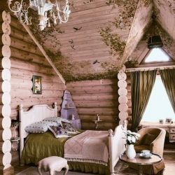 Enchanting fairytale home constructed from pine logs emanates nobleness from every corner, in Novokuznetsk, Russia.