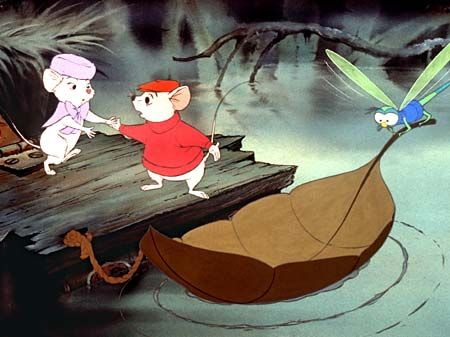 Bernard et Bianca. La surprise quand j'ai fait bien plus tard la relation entre les moteurs de bateaux et Evinrude la libellule!!!
