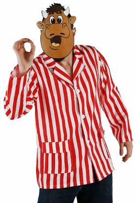 Bullseye Bully Costume. Includes official face mask and iconic striped shirt.