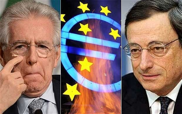 """""""Venetian cunning of Draghi-Monti masterplan may save euro for now  So we enter the treacherous market month of August with Europe in limbo. The actors wait upon each other. World finance held hostage to a fiendishly complicated game of diplomatic chess...""""  Fascinating"""