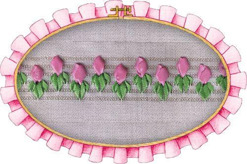 capullos de flor, calados con cinta