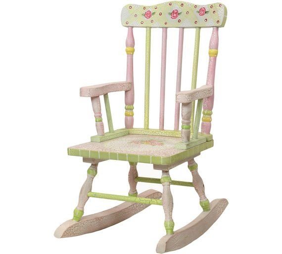Buy Fantasy Fields Crackled Rose Rocking Chair At Argos Co