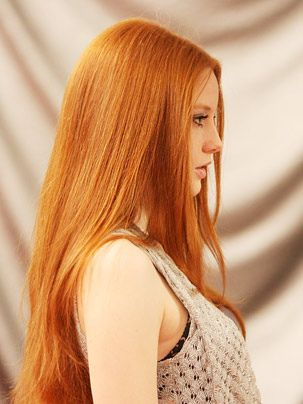She has the same color hair as I.I Love being Ginger!
