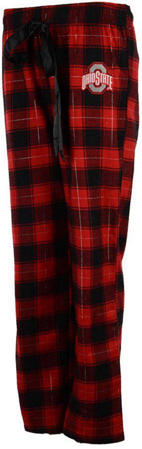J America Women's Ohio State Buckeyes Flannel Pajama Pants