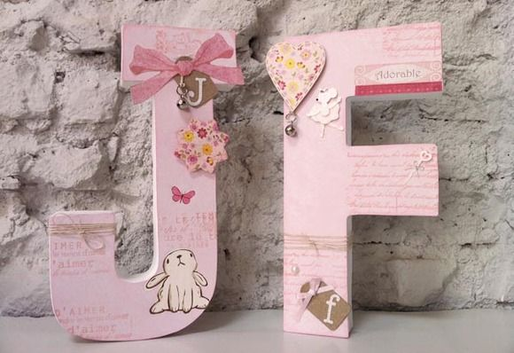 Letras de Scrap Booking para decorar