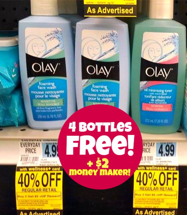 *HOT!* Rite Aid: FOUR Bottles of Olay Face Wash or Toner for FREE + $2 Money Maker!