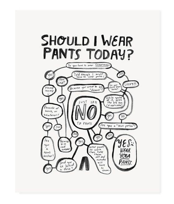 Should I Wear Pants Today? (Black)
