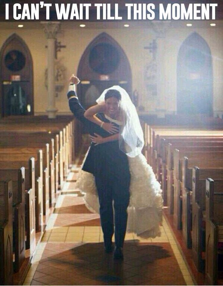 I want this picture taken! Forget about a normal walk out, he needs to carry me :)