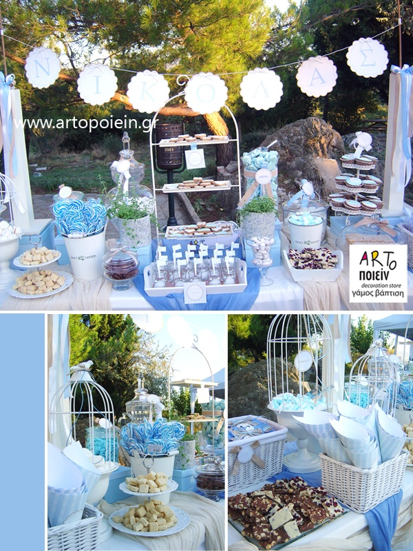 blue table decoration for a boy