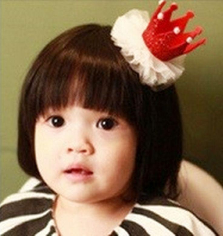 Шикарные новорожденных девочек кружева корона перл принцесса зажим для волос шпилька для волос для ну вечеринку(China (Mainland))