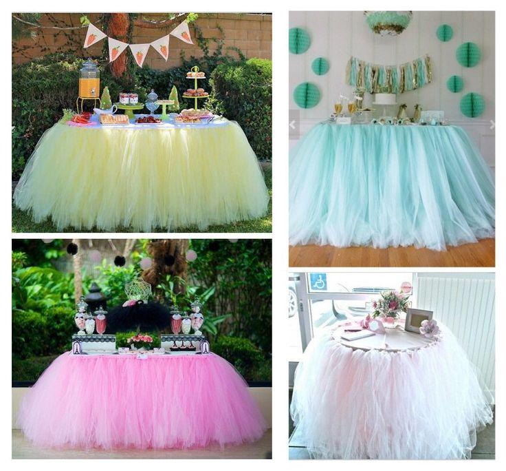 Como fazer Saia de tule para toalha de mesa – Passo a passo – Blog Inspire sua Festa