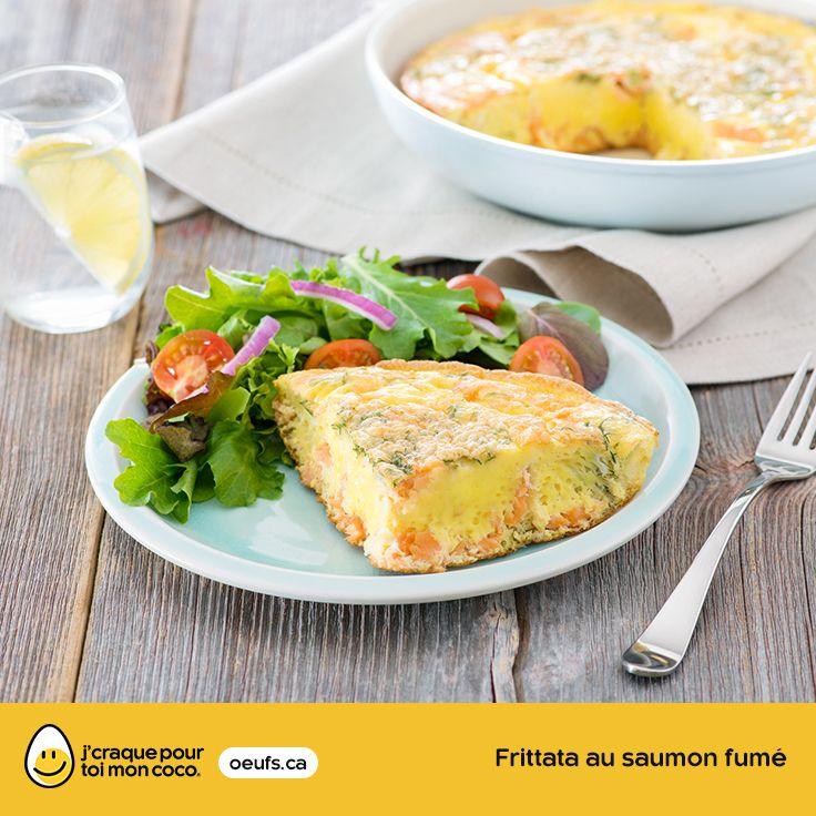 Frittata au saumon fumé | lesoeufs.ca | #Oeufs #Frittata