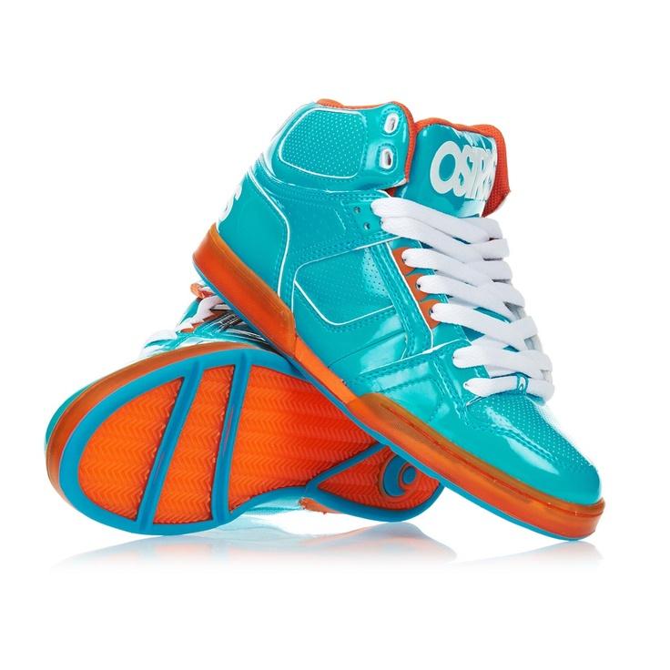 Osiris Shoes   Osiris NYC 83 Shoes   Teal and Orange