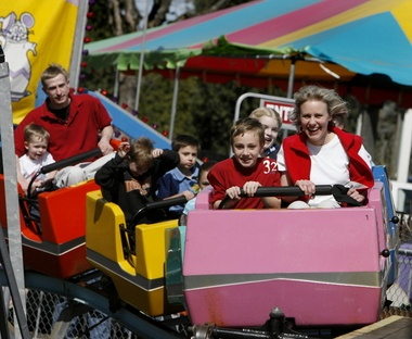 Oaks Amusement Park. Tip: If your kid isn't  real big on rides, then just buy a handful of ride tickets, but if he/she loves rides, the ride bracelet will be cheaper (and easier) at the end of the day.