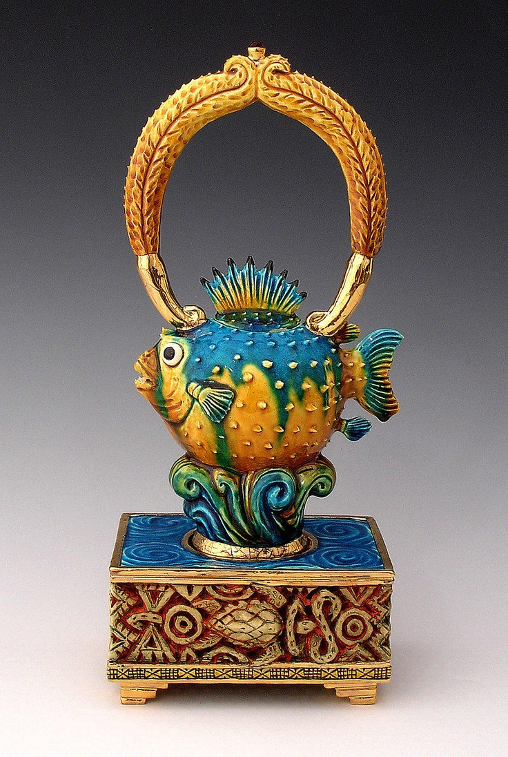 Fish Teapot -  this has to be the cutest clay object ever! kw