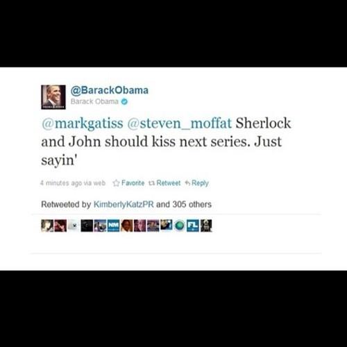 Oh. My. God. I'm. Dead. THE PRESIDENT SHIPS JOHNLOCK. YESSSSSS.<<<The president like Sherlock?! I LIKE THIS PRESIDENT