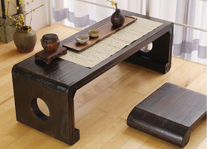 pas cher japonais console de piano banc rectangle 120 50 cm asiatique meubles anciens salon oriental de plancher de table de chevet en bois - Table Japonaise Basse