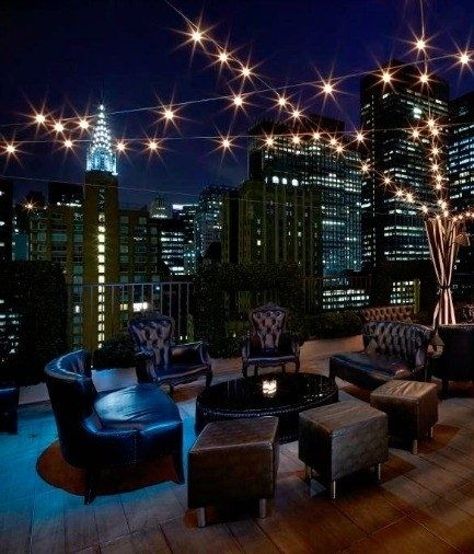 Truffle mac and cheese with a view? Sign us up! Open year-round, the rooftop bar of midtown's Kimberly Hotel offers 360-degree views of the city.