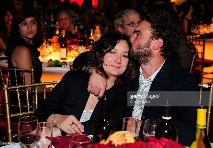 Actors Sara Gilbert (L) and Johnny Galecki in the audience at the 6th annual 'TV Land Awards' held at Barker Hangar on June 8, 2008 in Santa Monica, California.