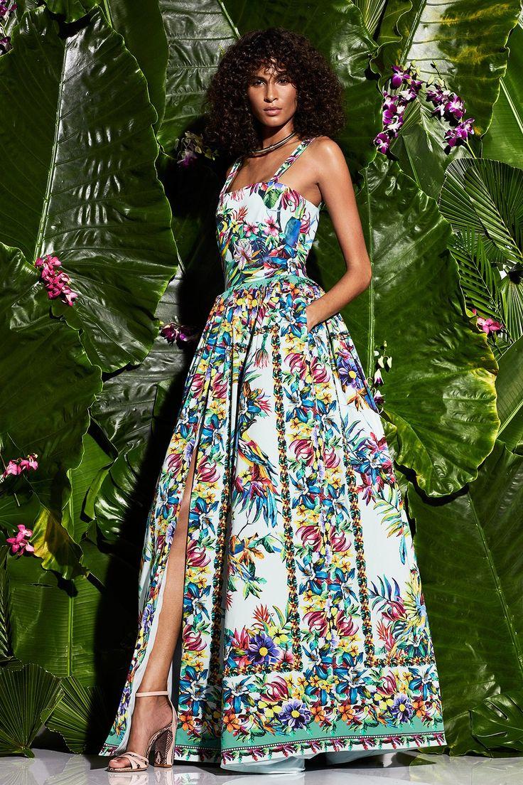 Модное летнее платье 2017 коллекции Zuhair Murad. Модный цветочный принт - тренд сезона 2017