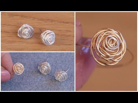 DIY: Make Silver Stud Earrings (Rose Jewellery) with Jessica Rose - YouTube