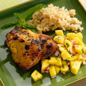 Luscious Food Recipes For The Soul: Curried Chicken With Mango Salad Recipe