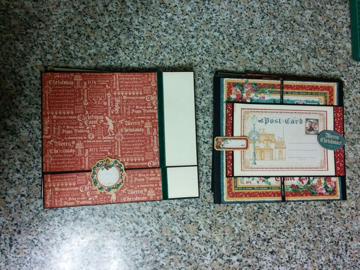 Pages 6 and 7 of my Christmas Carol mini album using amazing graphic 45 collection