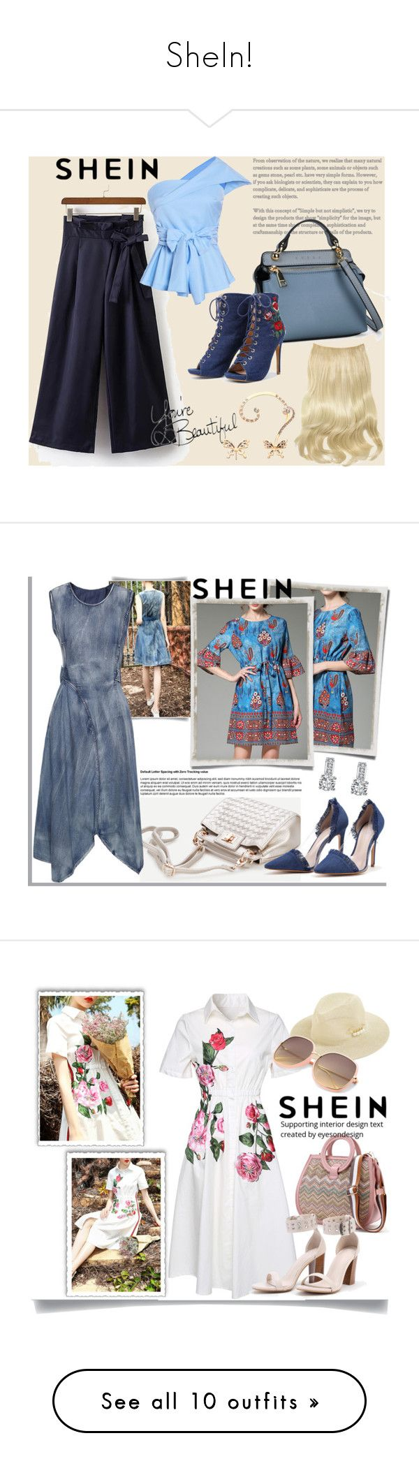 """""""SheIn!"""" by mery-2601 ❤ liked on Polyvore featuring Summer, modern, Trendy, onlineshopping, shein, WithChic, Daum and Hedi Slimane"""