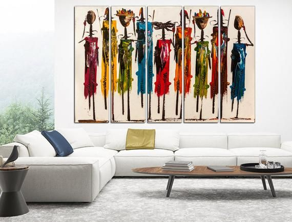 African Wall Art Colorful African Canvas Print Masai Gift Set For Tourist Abstract African Wall African Wall Art Living Room Canvas Prints Living Room Pictures