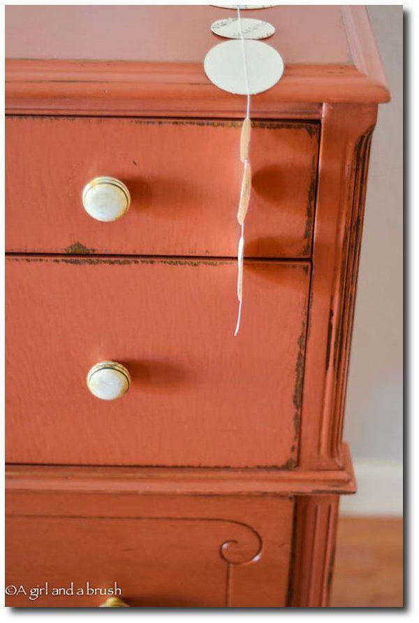 orange painted furniture | Reds and Orange Painted Furniture