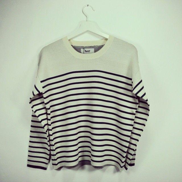 bzr by bruuns bazaar stripe sweater http://shoplaluce.com/collections/bzr-by-bruuns-bazaar/products/bzr-gry-sweater #bzr #brzbybruunsbazaar