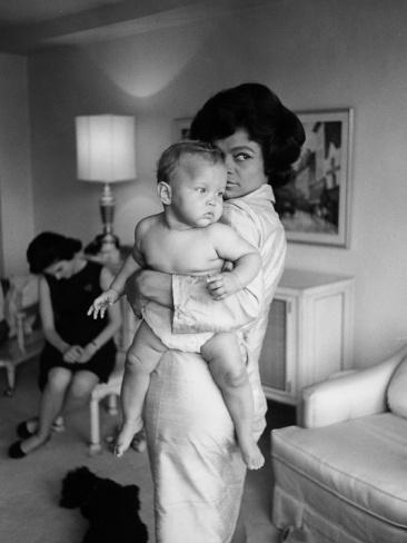 Eartha Kitt having fun with daughter Kitt. Photo by Moneta Sleet