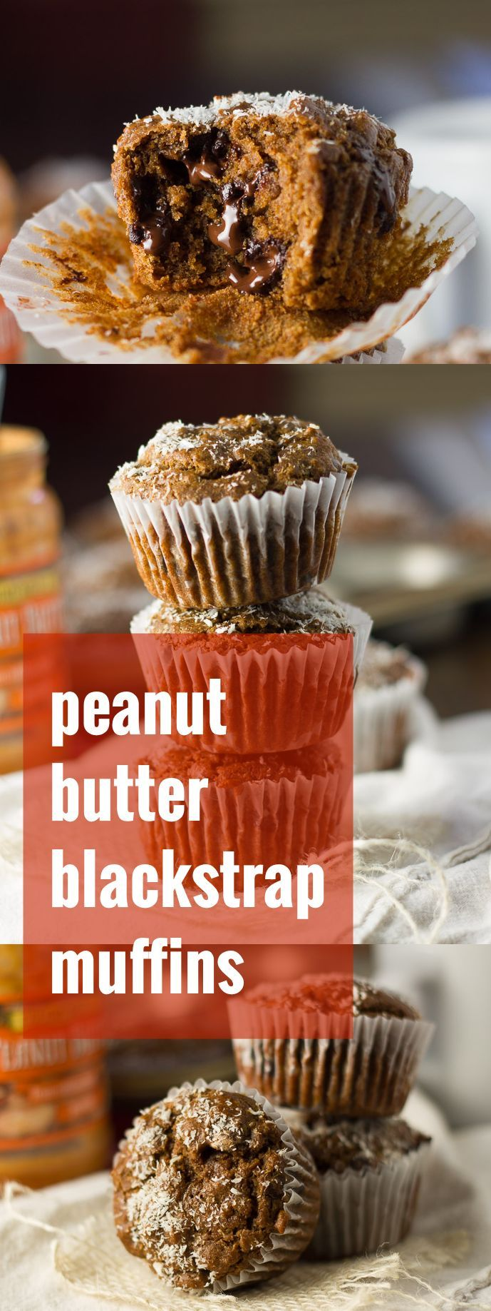 Made with creamy peanut butter, infused with spices, and studded with dark chocolate chips, these vegan blackstrap molasses muffins are sure to become an instant favorite!