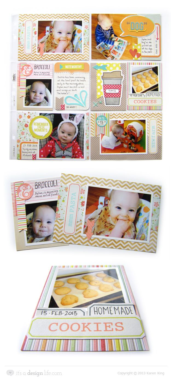Scrapbook ideas about life -  Papercraft Scrapbook Layout Project Life Using Dear Lizzy Neapolitan By Karen King