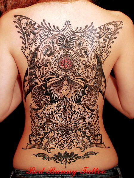 Full Back Tattoo by Red Bunny Tattoo