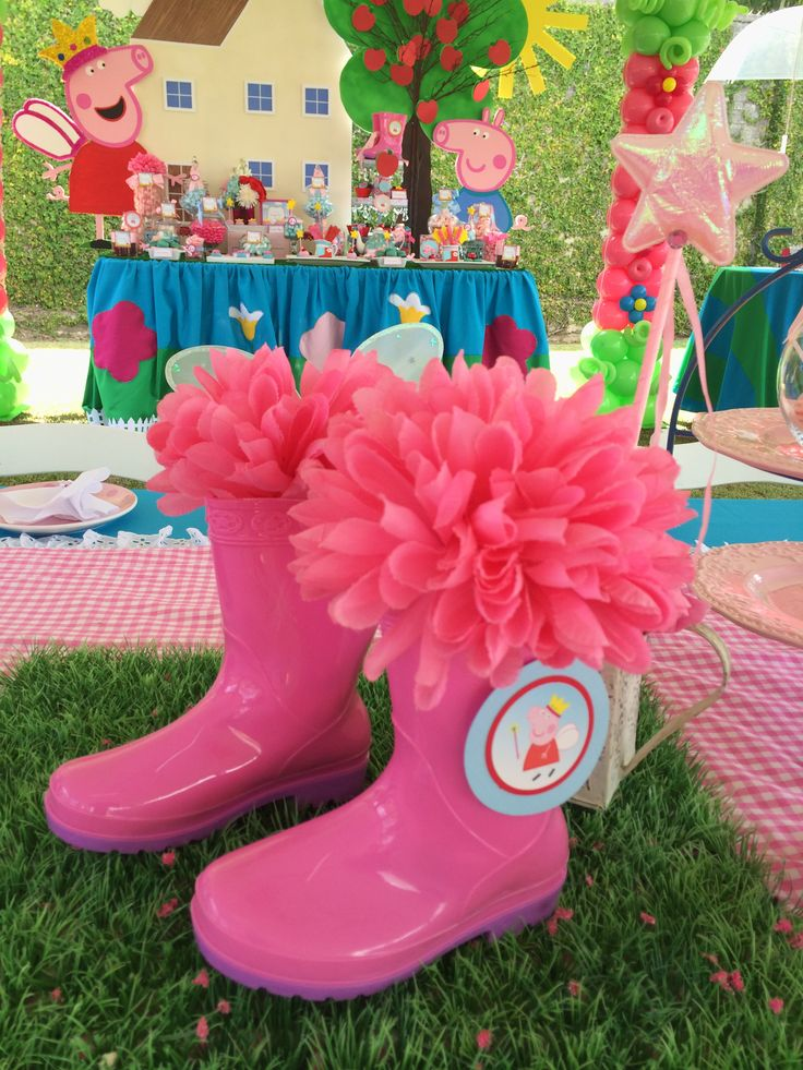 Peppa Pig Inspired Party 787-435-9860 Amazing Parties & Events http://www.amazingpartiespr.com