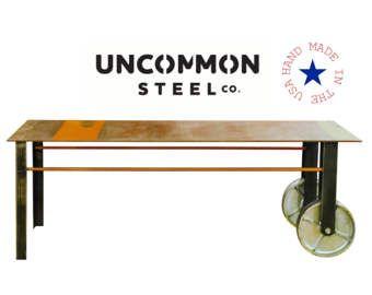 Mesa de centro, carro Industrial, mesa de centro Metal, fábrica carro mesa, mesa de centro con ruedas, ruedas de la mesa de centro, carro de acero