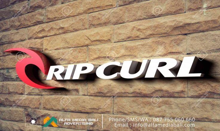 Huruf timbul akrilik LED Rip curl di bali | Alfa Media Bali
