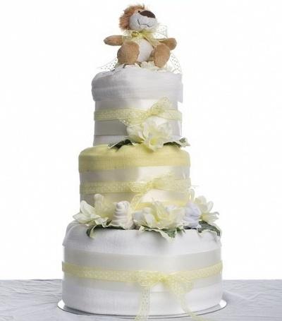 Neutral Nappy Cake - 3 Tier