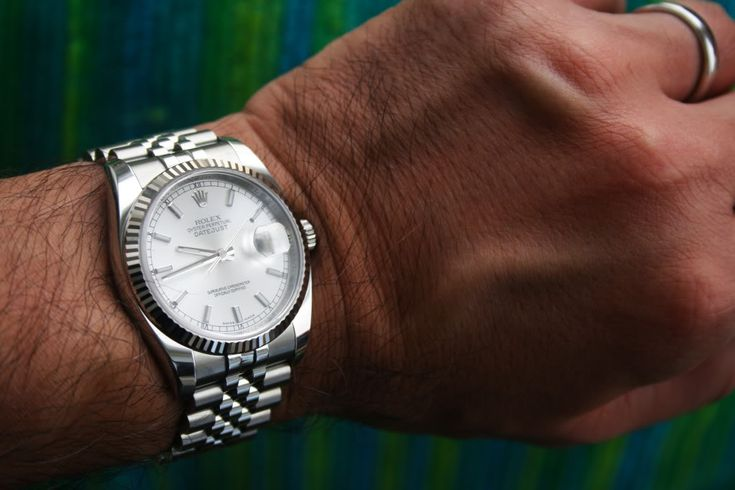 rolex datejust 36mm on wrist - Google Search