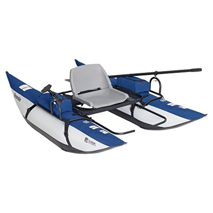 Small Inflatable Pontoon Fishing Boats | Classic Accessories Roanoke Inflatable Pontoon Boat