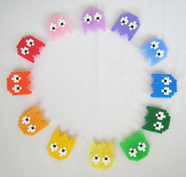 Pacman  | Idea! make a whole rainbow line of them above and across my desk!!