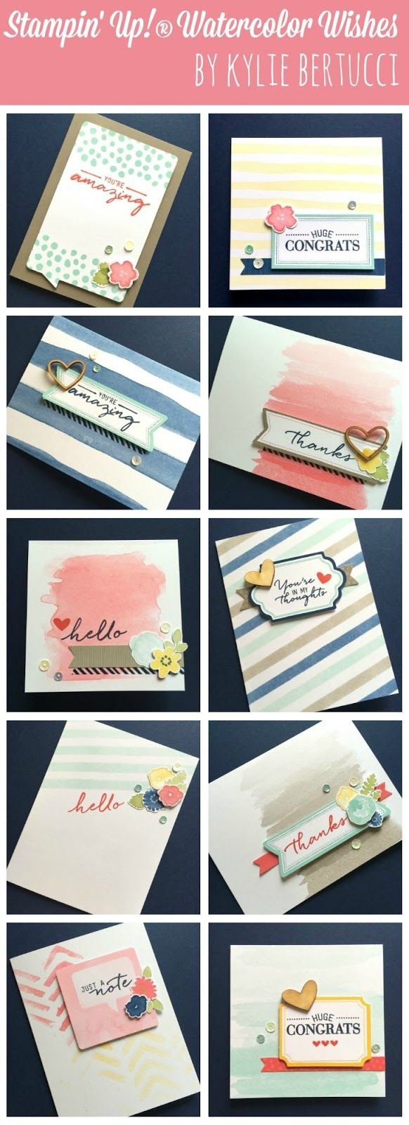 Kylie Bertucci - Watercolor Wishes Card kit come to my blog to see the other amazing projects I have made using the new Stampin' Up! products from the 2015-2016 Annual Catalogue #stampinup #watercolorwishes