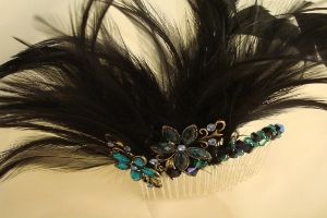 Fantastic Feathered Hair Accessories - ideal for wedding guests as an alternative to hats or fascinators.