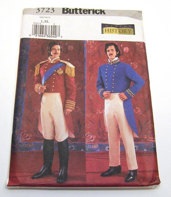 Butterick 3723 Mens 19th Century Military Officer Uniform