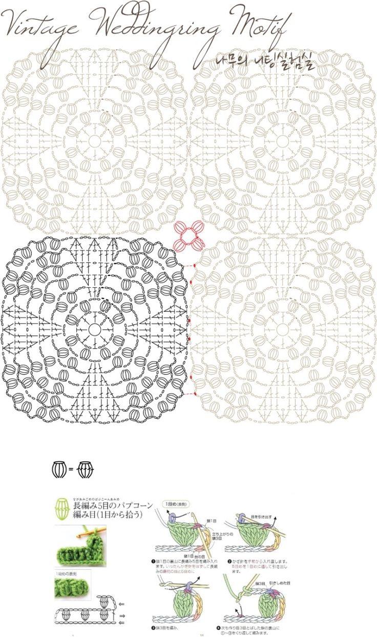 Vintage Weddingring Motif, free pattern from Knitree.