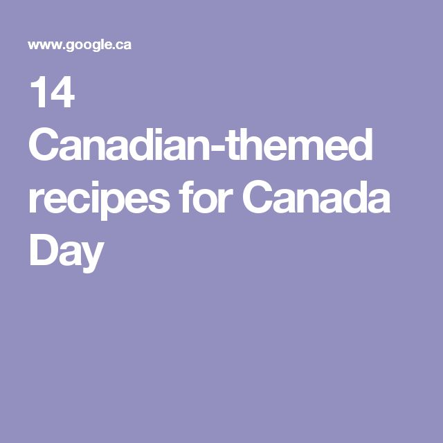 14 Canadian-themed recipes for Canada Day